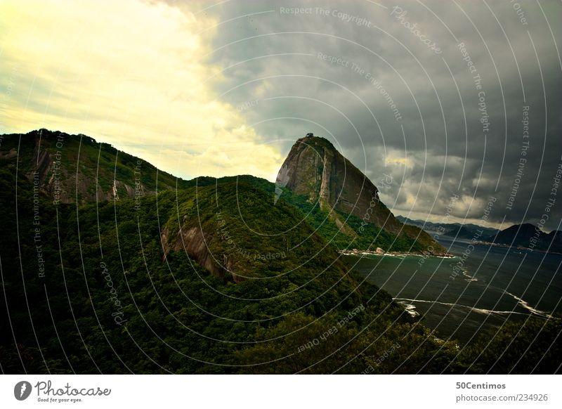 Sugarloaf - Rio de Janeiro - Zuckerhut Himmel Wasser schön Pflanze Strand Wolken Ferne Umwelt Landschaft Leben Berge u. Gebirge Gefühle Freiheit Traurigkeit