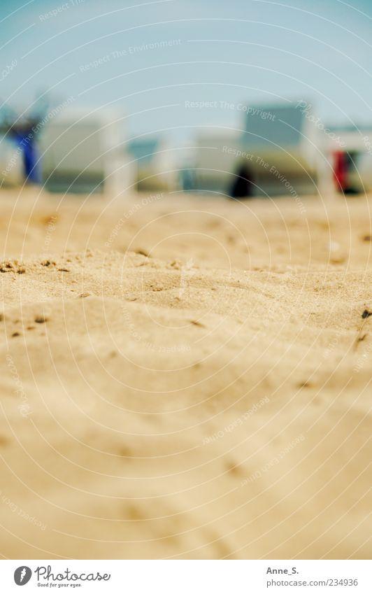 Strandsand Sommer Meer Natur Sand Schönes Wetter Wärme Küste Ostsee Warnemünde Darß Prerow träumen Stimmung Glück Zufriedenheit Trägheit Farbfoto Außenaufnahme