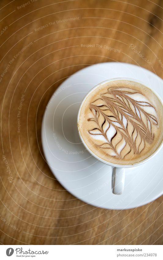 latte art - barista Lebensmittel Milchkaffee Kaffee Kaffeetasse Kaffeebecher Latte Macchiato verziert Dekoration & Verzierung Muster schäumen Cappuccino Getränk
