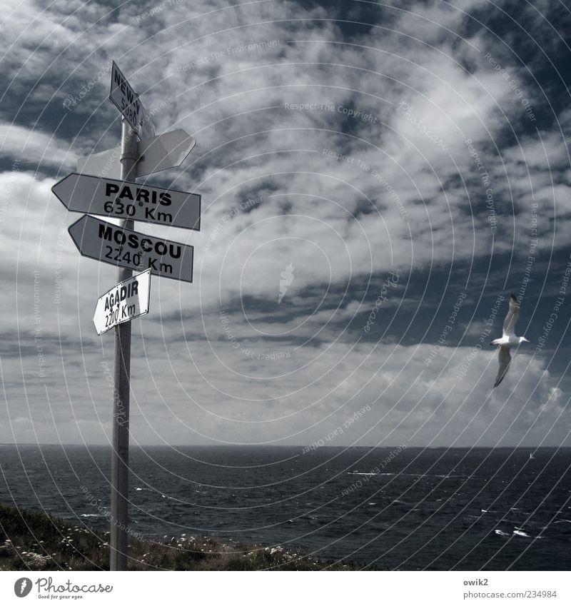 Agadir 2200 km Umwelt Natur Landschaft Luft Wasser Himmel Wolken Horizont Wetter Schönes Wetter Wind Meer Atlantik Irische See Kap Pointe de Corsen Frankreich