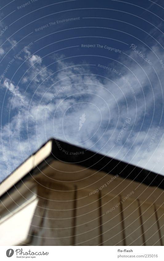 OFFLiNE - URLAUB Himmel weiß Sommer Wolken Holz Wind Dach Hütte Schönes Wetter Wolkenhimmel Holzhütte