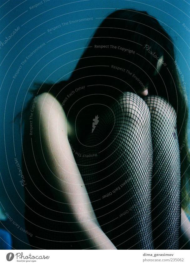 Bearbeiten schön Übergewicht Mensch feminin Junge Frau Jugendliche Erwachsene Arme Beine 1 18-30 Jahre Strümpfe Strumpfhose genießen dünn elegant fantastisch