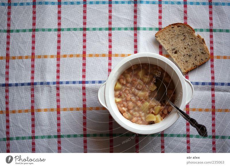 hausMann Einsamkeit Foodfotografie Lebensmittel Ernährung Gemüse lecker Appetit & Hunger Brot Stillleben Schalen & Schüsseln Backwaren Abendessen Teigwaren Mittagessen Tischwäsche Löffel