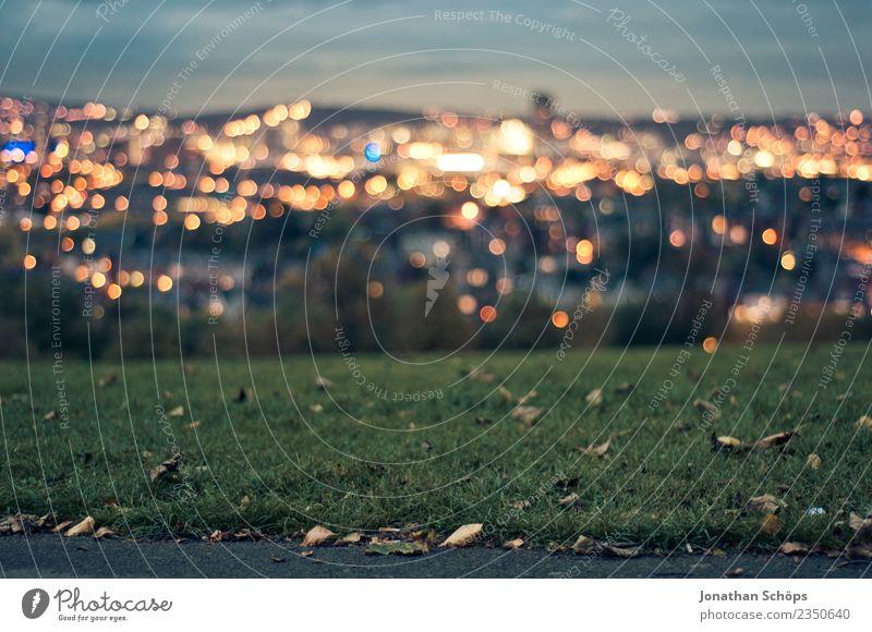 Sheffield Meersbrook Park Himmel blau Stadt grün Landschaft Ferne Herbst Wiese Gefühle Gras Stimmung Horizont gold Energiewirtschaft Aussicht