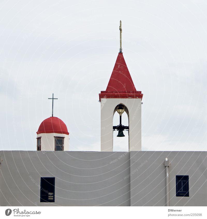 Johanneskirche in Akko weiß rot Haus Architektur Religion & Glaube Stein Mauer Fassade Kirche Dach Turm Zeichen Kreuz Dom Christentum Glocke