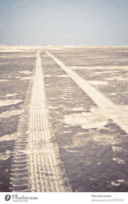 Spiekeroog | Irrfahrt Himmel Natur blau Meer Strand ruhig Ferne Umwelt Landschaft grau Sand Linie Horizont Wetter Insel leer