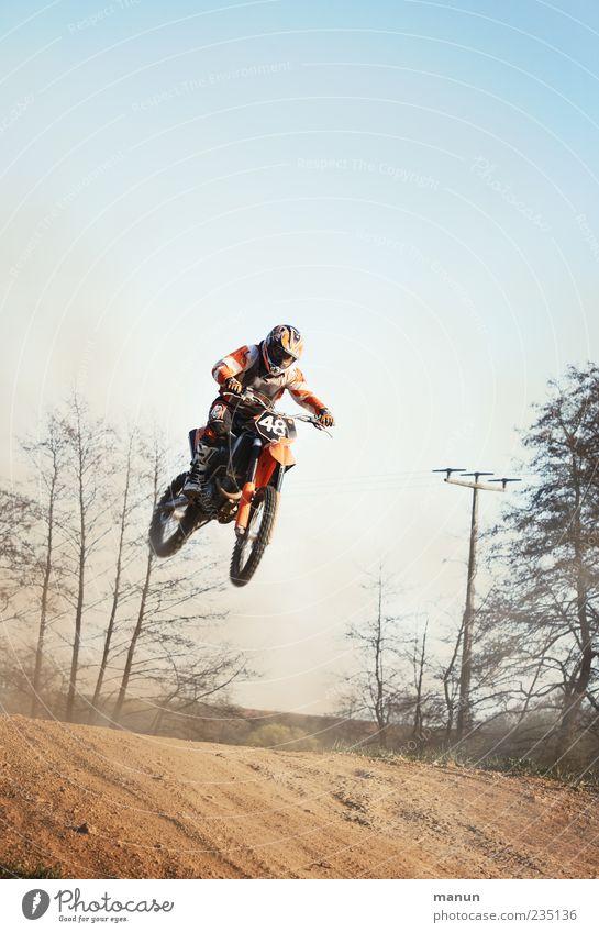 Flugverkehr Mensch Mann Erwachsene Leben Sport springen Freizeit & Hobby fliegen maskulin verrückt Coolness fahren Lebensfreude sportlich trendy Motorrad