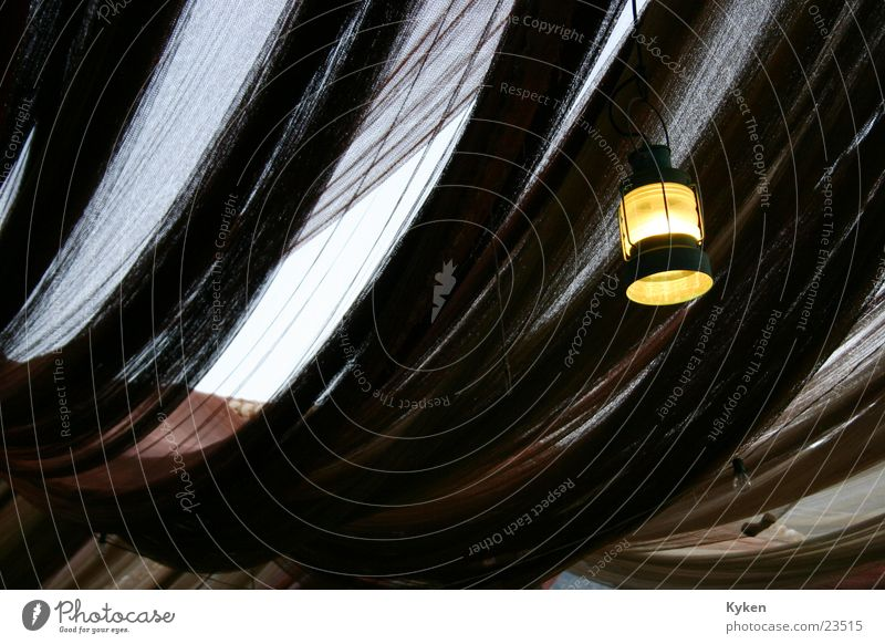 Netzdach Fischernetz Laterne Lampe Dämmerung Licht Romantik Europa Himmel Lampion