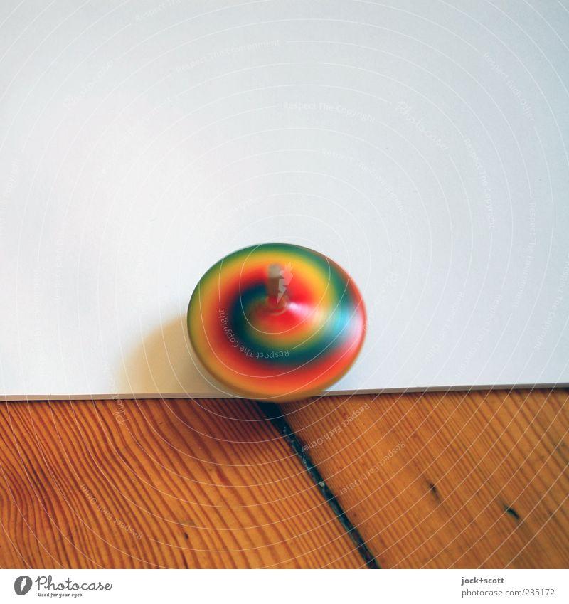 Drehung um die eigene Achse weiß Freude Bewegung Spielen Holz klein Zeit Linie braun Freizeit & Hobby Erfolg Papier rund Wandel & Veränderung Kultur Spielzeug