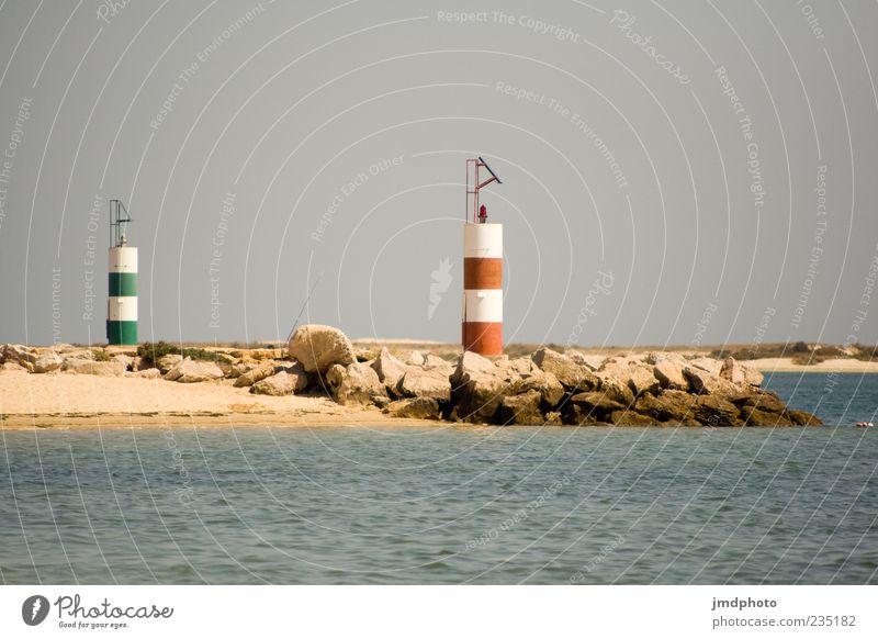 Leuchttürme Ferien & Urlaub & Reisen Tourismus Sommer Strand Meer Wellen Natur Landschaft Wasser Himmel Schönes Wetter Küste Leuchtturm Farbfoto Außenaufnahme
