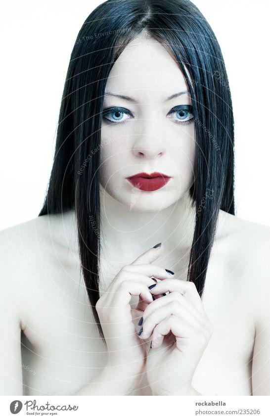 maria magdalena. feminin Junge Frau Jugendliche 1 Mensch 18-30 Jahre Erwachsene schwarzhaarig langhaarig Scheitel ästhetisch außergewöhnlich elegant einzigartig