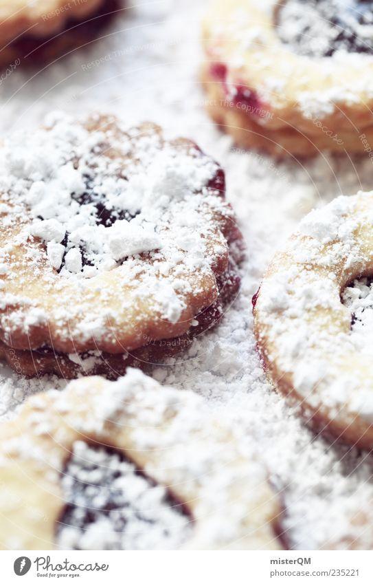 Cookie? Lebensmittel Teigwaren Backwaren Dessert Süßwaren Marmelade Ernährung Kaffeetrinken Fingerfood ästhetisch Keks Puderzucker Bäckerei Weihnachten & Advent