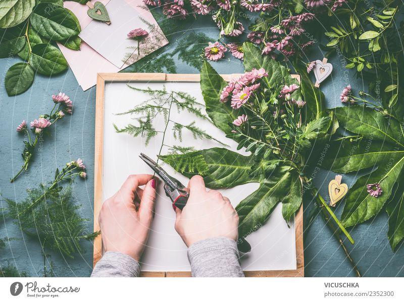 Hände machen Blumenstrauß kaufen elegant Stil Design Innenarchitektur Dekoration & Verzierung Feste & Feiern Business Mensch feminin Hand Natur Blatt Blüte