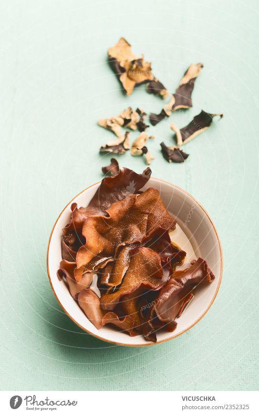 Mu-Err or Black Fungus Pilze Lebensmittel Ernährung Bioprodukte Vegetarische Ernährung Diät Schalen & Schüsseln Stil Design Gesundheit Alternativmedizin