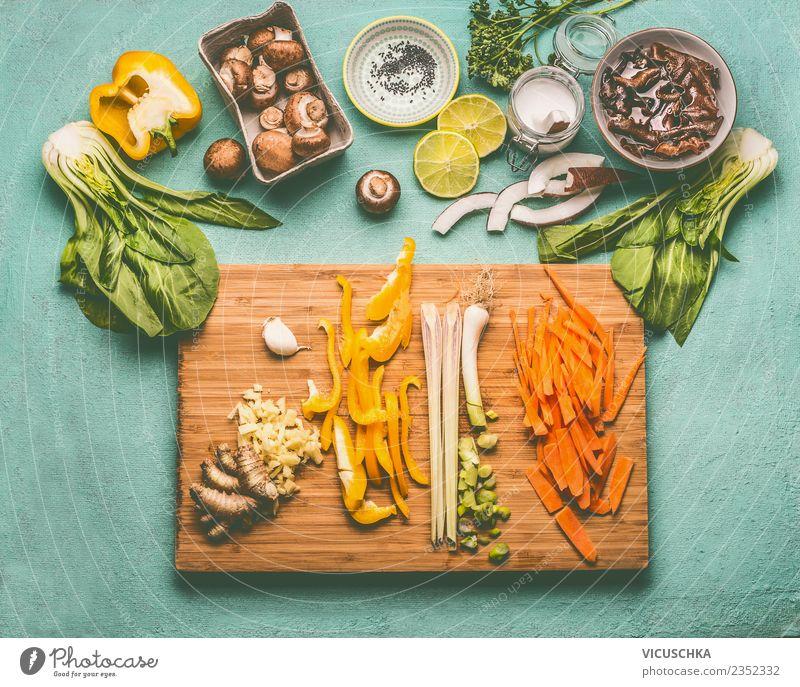 Asiatische Kochzutaten mit Mu Err Pilze Lebensmittel Gemüse Ernährung Bioprodukte Vegetarische Ernährung Diät Asiatische Küche Geschirr Schalen & Schüsseln Stil