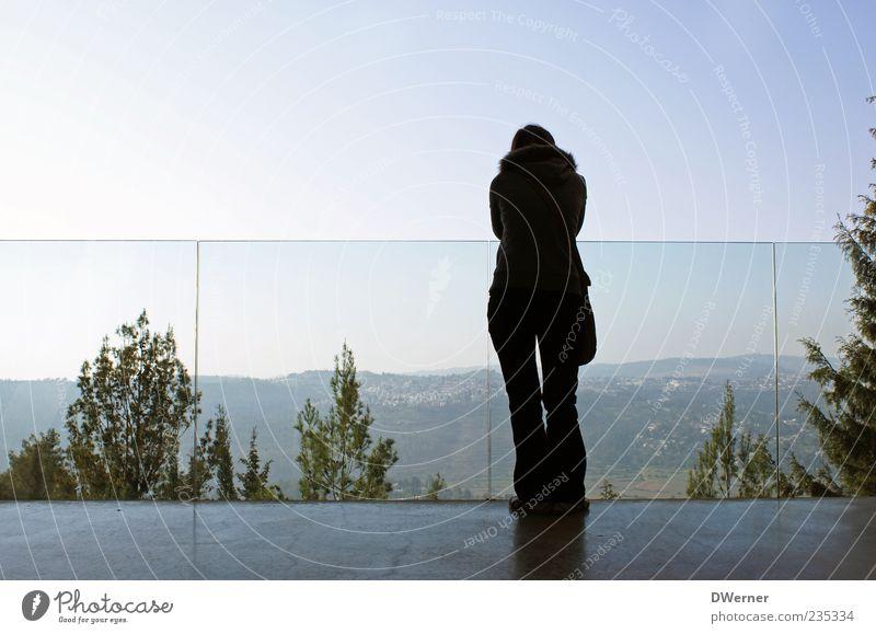 Yad Vashem - Blick in die Freiheit Mensch Frau Ferien & Urlaub & Reisen Jugendliche blau Junge Frau Baum Landschaft ruhig 18-30 Jahre Erwachsene Gefühle feminin