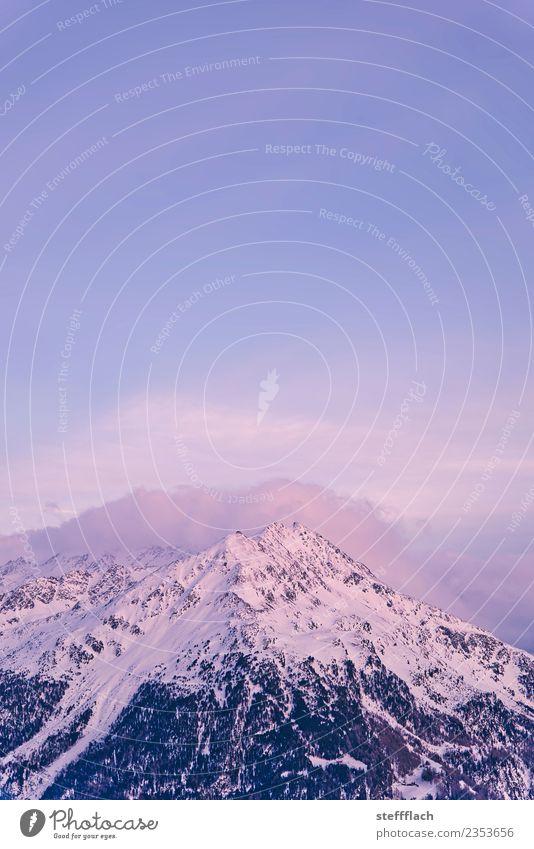 Söldenkogel im Schnee Wintersport Klettern Bergsteigen Skifahren Skier Snowboard Umwelt Natur Landschaft Luft Himmel Sonnenaufgang Sonnenuntergang