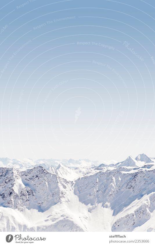 Kaiserwetter Natur Ferien & Urlaub & Reisen Erholung Winter Ferne Berge u. Gebirge Schnee Sport Glück Tourismus Freiheit Ausflug wandern Luft Luftverkehr