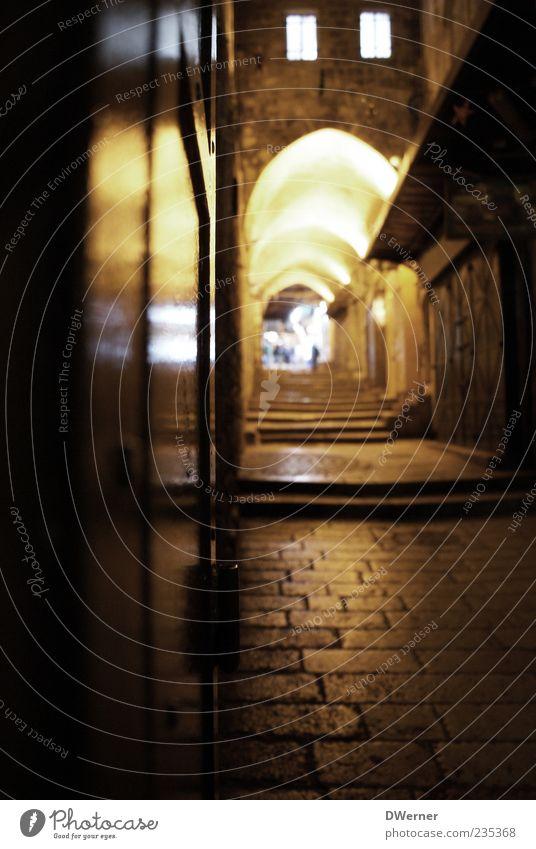 Jerusalem - Old City Stadt Freude Haus Erholung gelb Straße Wand Architektur Stein Mauer braun Dach Romantik Kultur geheimnisvoll Burg oder Schloss