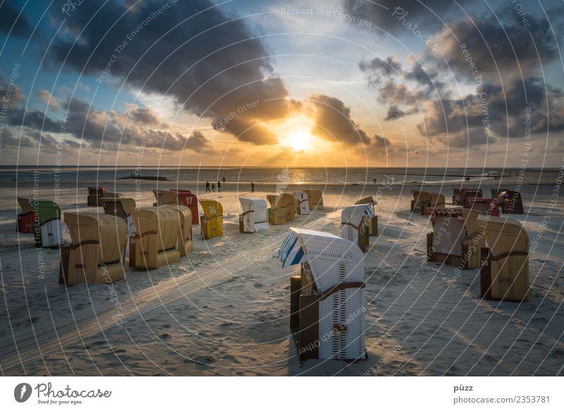 Moin Himmel Natur Ferien & Urlaub & Reisen Sommer Landschaft Sonne Meer Erholung Wolken Ferne Strand Wärme gelb Küste Tourismus Freiheit