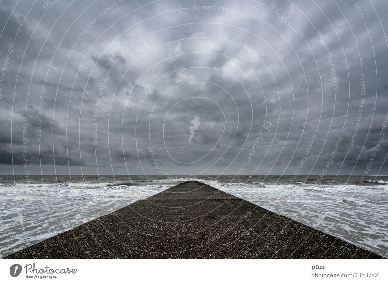 Highway to Heaven Ferne Freiheit Meer Insel Wellen Umwelt Natur Landschaft Urelemente Wasser Himmel Wolken Klima Wetter schlechtes Wetter Wind Küste Strand