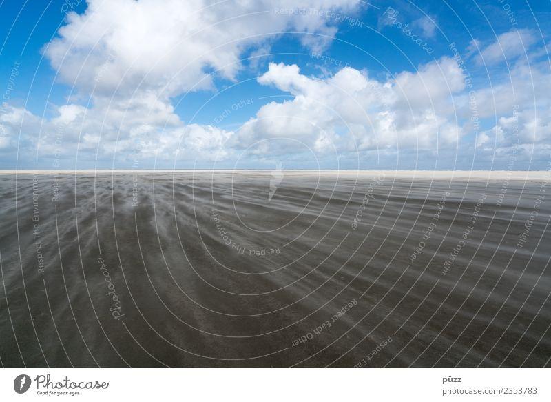 Wind Ferien & Urlaub & Reisen Tourismus Ferne Freiheit Strand Meer Insel Umwelt Natur Landschaft Urelemente Erde Sand Luft Himmel Wolken Horizont Klima Wetter