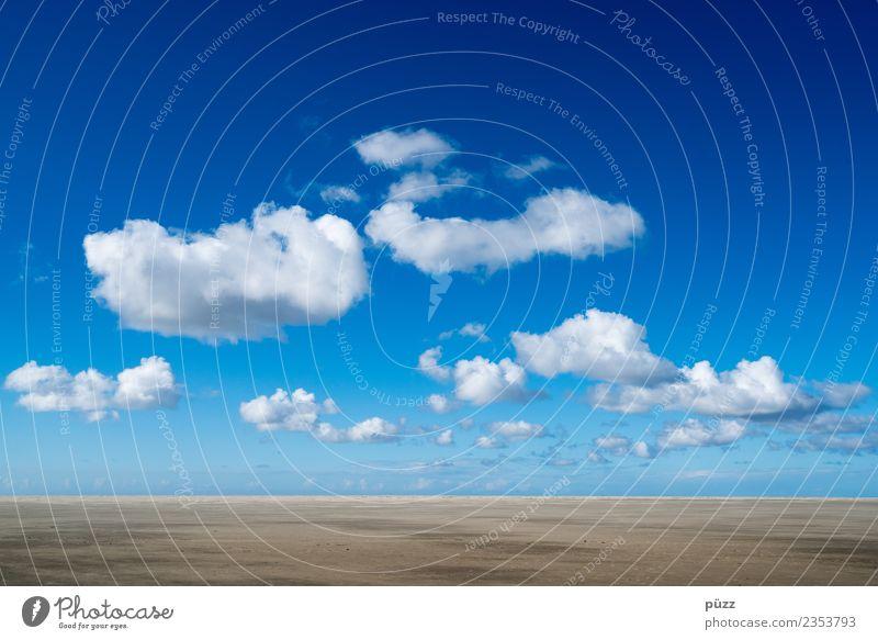 Clouds Umwelt Natur Landschaft Urelemente Erde Sand Luft Himmel Wolken Horizont Klima Klimawandel Wetter Schönes Wetter Strand Nordsee Meer atmen gehen
