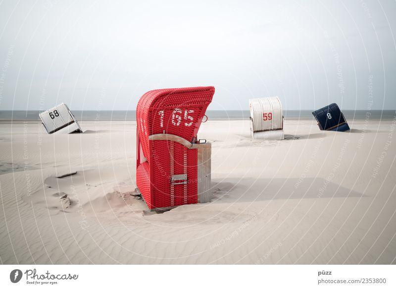 68+165+59+8 Ferien & Urlaub & Reisen Tourismus Sommer Sommerurlaub Sonne Sonnenbad Strand Meer Insel Natur Landschaft Himmel Küste Nordsee Sand Ziffern & Zahlen