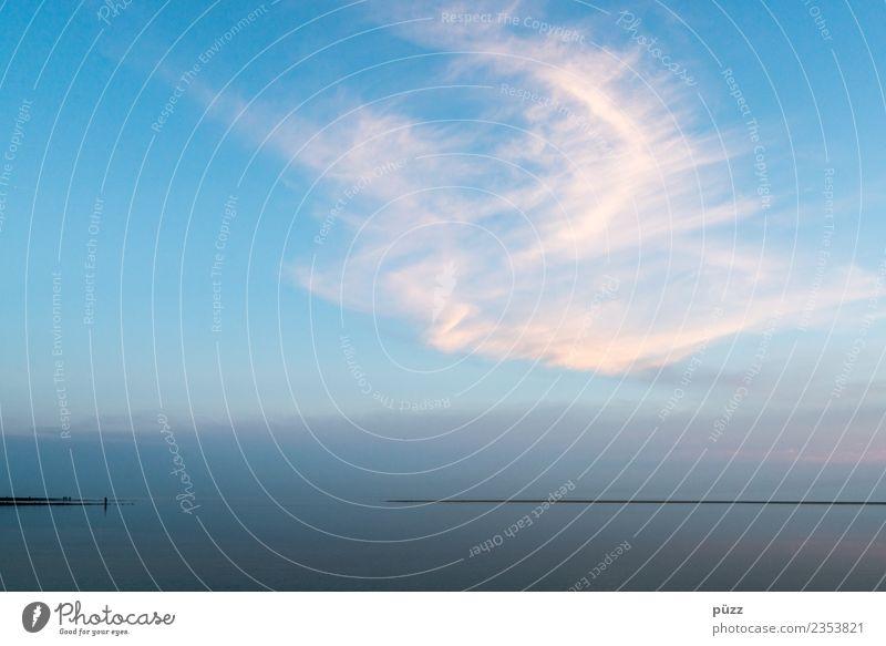 Stille Natur blau Sommer Wasser Meer Erholung Einsamkeit Wolken ruhig Ferne Strand Umwelt Gefühle Küste Freiheit Schwimmen & Baden