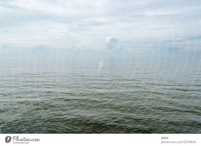 Unendlichkeit Himmel Natur blau grün Wasser Meer Einsamkeit Wolken ruhig Ferne Umwelt Gefühle Freiheit Schwimmen & Baden Horizont Wellen