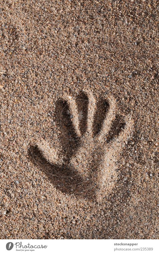 Hand Sand Finger natürlich roh Konsistenz Mark Mensch