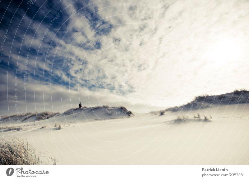 Spiekeroog | Ray of Light Mensch Himmel blau Ferien & Urlaub & Reisen Sonne Meer Strand Wolken ruhig Ferne Erholung Freiheit Sand Küste Horizont hell