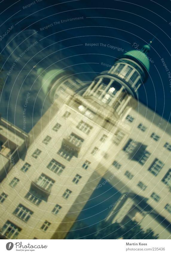 Twin Towers Architektur träumen Zufriedenheit Fassade Platz Perspektive Turm Kultur Schutz Bauwerk Skyline Neigung Stadtzentrum Doppelbelichtung Hauptstadt