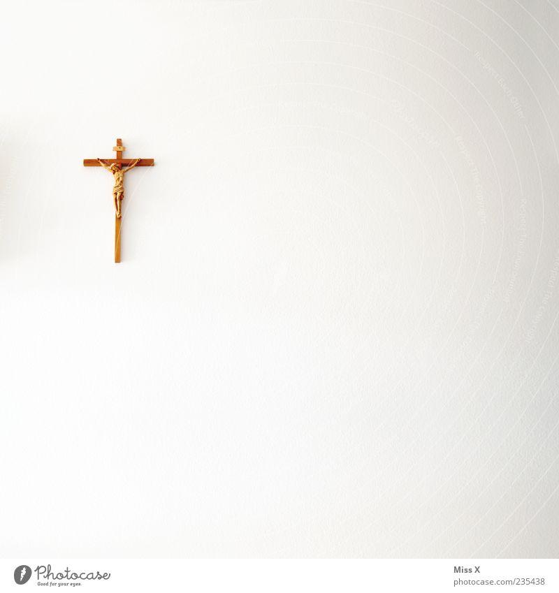 Zefix weiß Wand Religion & Glaube Mauer Kirche Symbole & Metaphern Kreuz Gebet Kruzifix Christentum Jesus Christus Katholizismus minimalistisch