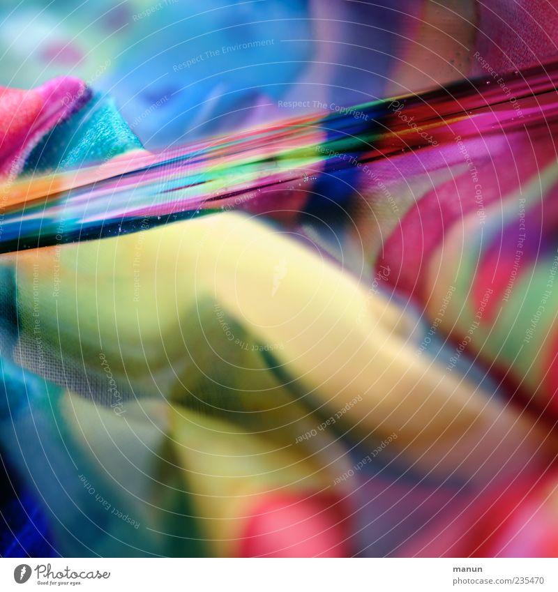 Wasserstoff Stoff Stoffmuster Glas Linie nass mehrfarbig bizarr Farbe skurril Farbenspiel leuchtende Farben Farbfoto Nahaufnahme abstrakt Muster Menschenleer