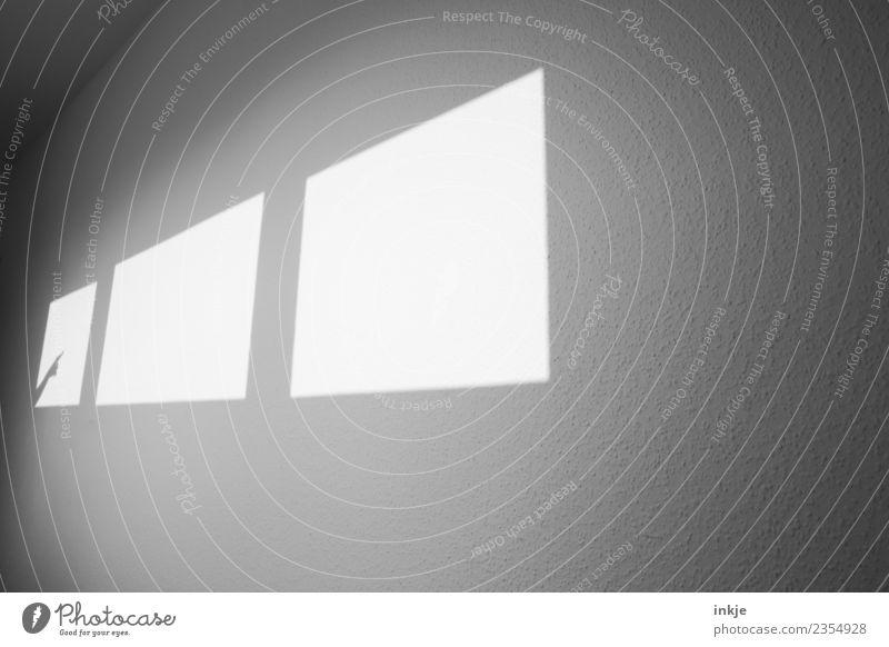 da Hand Fenster Wand Spielen hell Raum Finger graphisch eckig diagonal Flur Hinweis Zeigefinger Schattenspiel Fensterfront