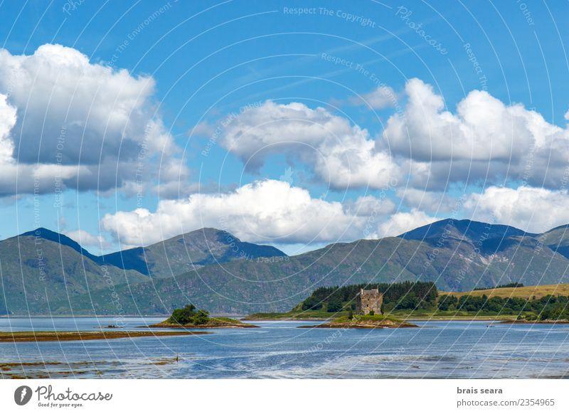 Himmel Natur Ferien & Urlaub & Reisen alt blau grün Landschaft Meer Haus Wolken Berge u. Gebirge Architektur natürlich Gebäude Tourismus Stein