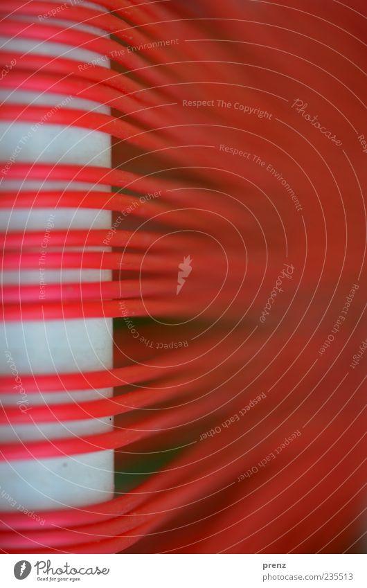 verschmolzen weiß rot Linie Seil Industrie Schnur Technik & Technologie Kunststoff Röhren parallel Stab verschmelzen