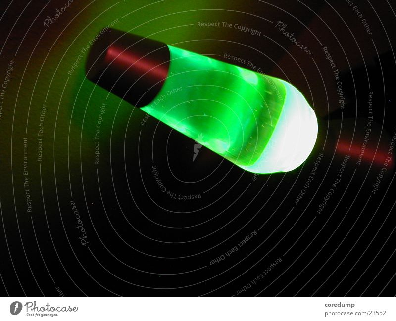 green_lava Lava Lampe grün Licht Häusliches Leben reflektion