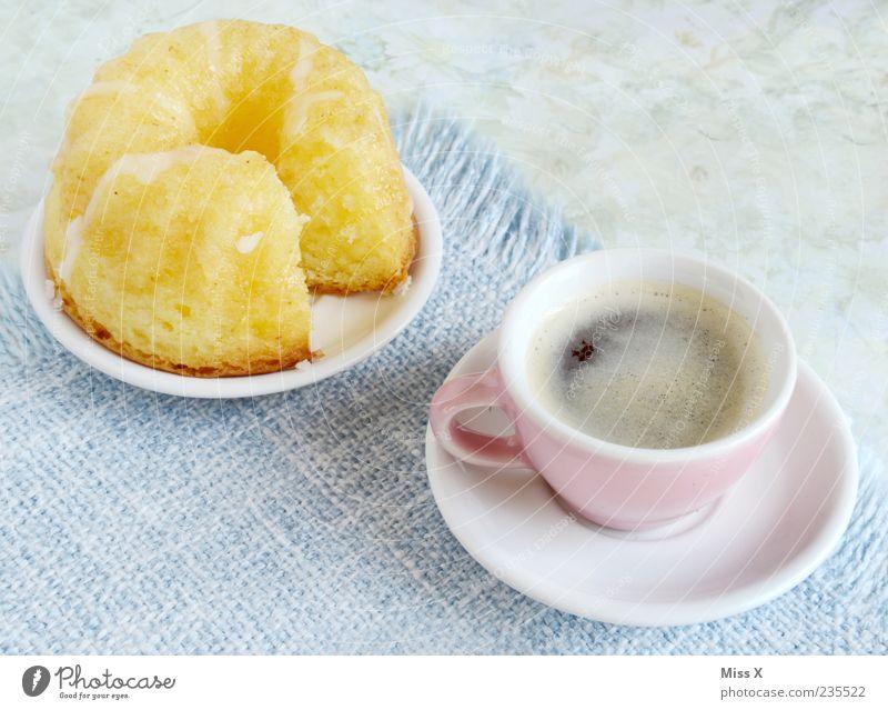 Kaffee & Kuchen & sonst NIX Ernährung Lebensmittel klein frisch Tisch süß Getränk heiß Teile u. Stücke Appetit & Hunger Tasse lecker Teller Duft
