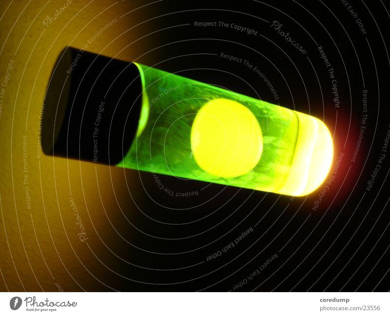 yellow_bubble Lavalampe grün-gelb Wachs Licht Fototechnik Blase Reflektion Lichterscheinung