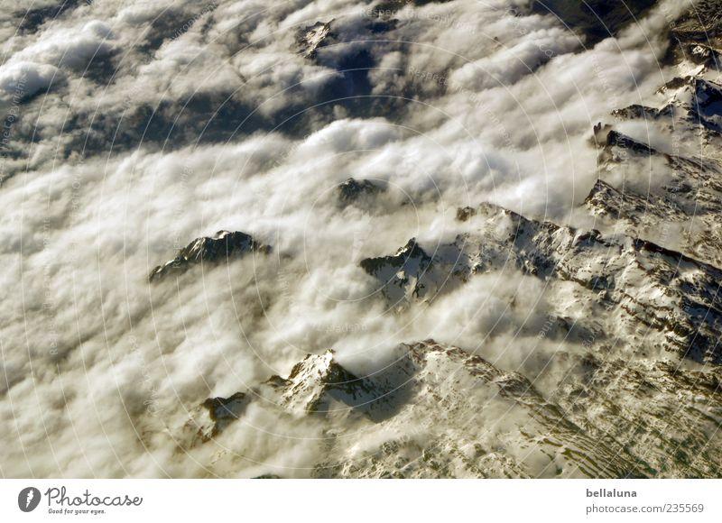 Pyrenalpen Himmel Natur schön Winter Wolken Landschaft Schnee Berge u. Gebirge Eis Felsen Frost Alpen Schönes Wetter Gipfel Luftaufnahme Schneebedeckte Gipfel