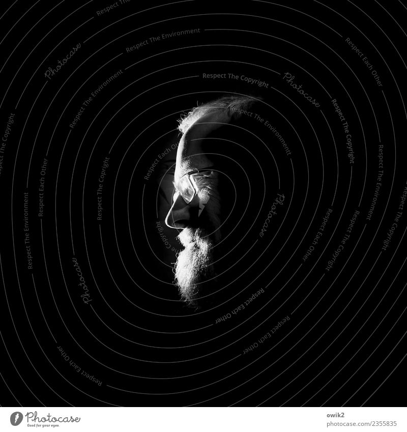 Alterserscheinung Mensch Mann Gesicht Erwachsene Kopf Denken leuchten 45-60 Jahre Nase Brille Bart Stirn