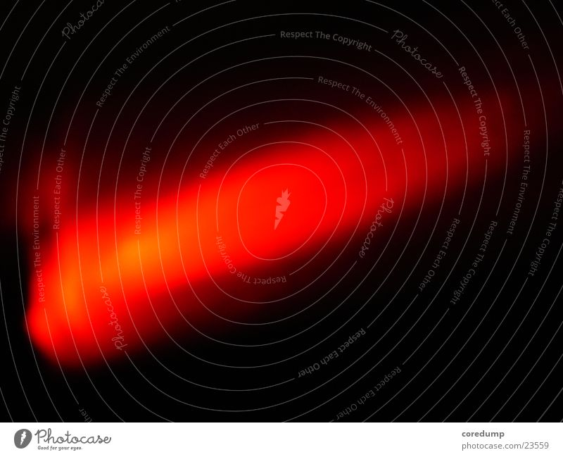 Flash Licht rot dunkel Nacht Elektrisches Gerät Technik & Technologie Leuchtdiode Light auf Holzmaserung