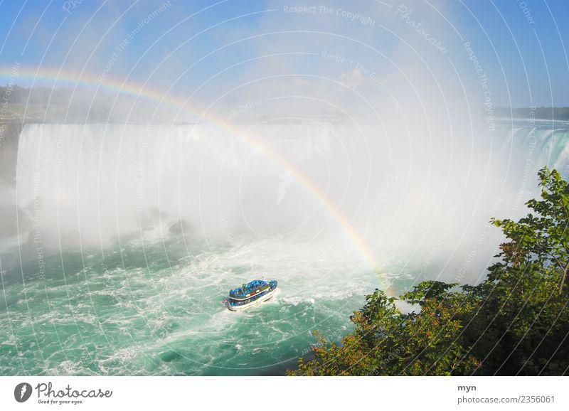 Maid of the Mist | Niagara Fälle IV Ferien & Urlaub & Reisen Tourismus Abenteuer Sightseeing Kreuzfahrt Umwelt Natur Wasser Fluss Wasserfall USA