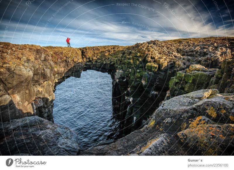 Viadukt der Zeit Abenteuer Ferien & Urlaub & Reisen Vertrauen Hoffnung Neugier Mut Sehnsucht Fernweh Freiheit Natur Landschaft Urelemente Felsen Vulkan Island
