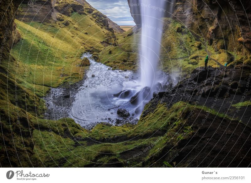 Fallende Wasser_001 Himmel Natur Ferien & Urlaub & Reisen Sommer Landschaft Erholung Ferne Berge u. Gebirge Herbst Frühling Tourismus außergewöhnlich Freiheit