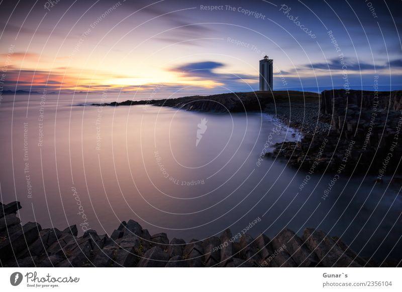 Innehalten_001 Natur Ferien & Urlaub & Reisen Landschaft Meer ruhig Ferne Gefühle Küste Freiheit Felsen träumen genießen Abenteuer fantastisch Ewigkeit Turm