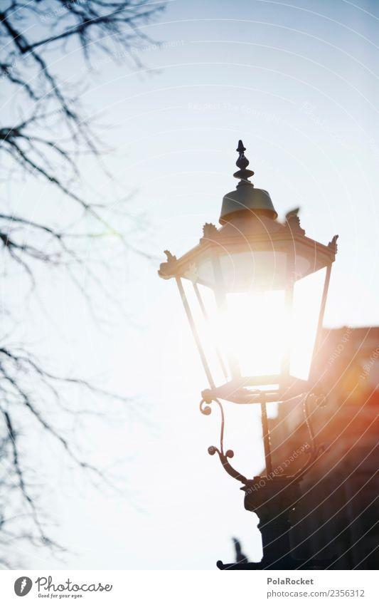 #A# Dresdner Leuchte Kunst ästhetisch Licht Sonnenlicht Lampe Dresden Sachsen Altstadt Laterne Straßenbeleuchtung Farbfoto Gedeckte Farben Außenaufnahme