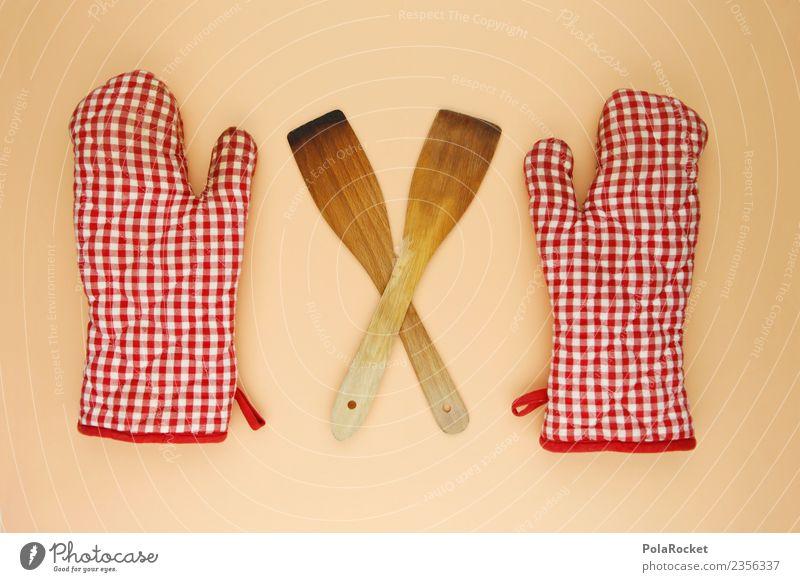 #AS# Backe Backe Kuchen Glück backen Küche Haushalt Rollenspiel Holz kariert rot weiß Freizeit & Hobby selbstgemacht Handschuhe genießen kochen & garen